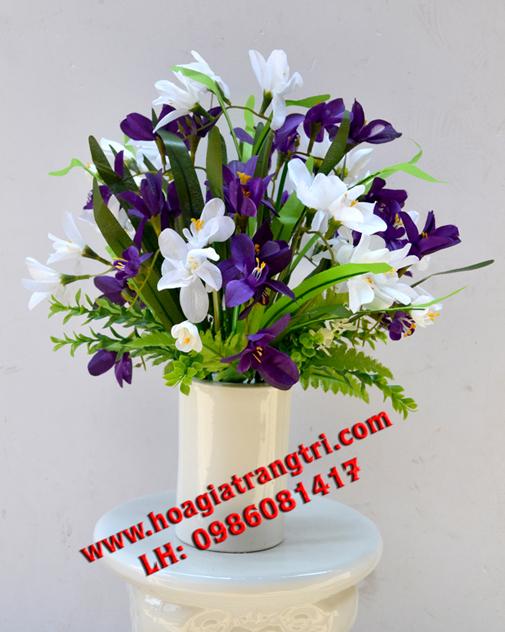 Bán hoa lụa trang trí phòng khách chất lượng đẹp hàng đầu
