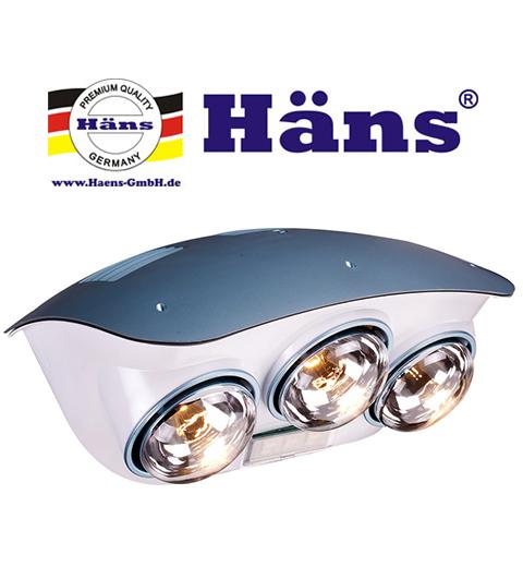 Đèn sưởi nhà tắm Hans – Thương hiệu được người Việt ưa chuộng.
