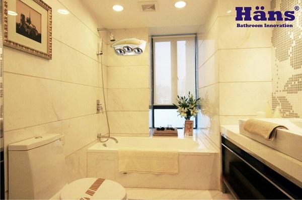 Đèn sưởi nhà tắm Hans cho phòng tắm mọi gia đình