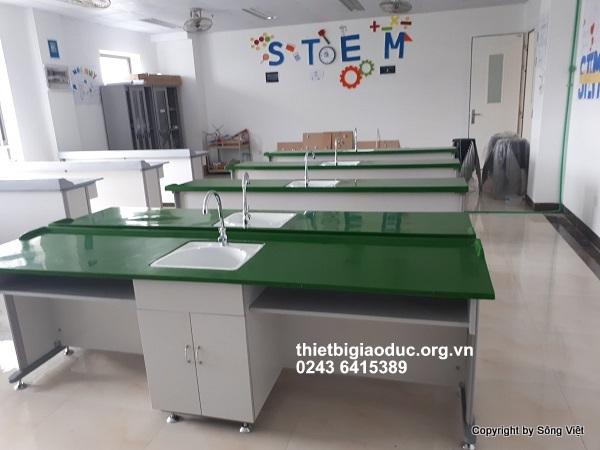 bàn thí nghiệm hóa phòng học công nghệ 1