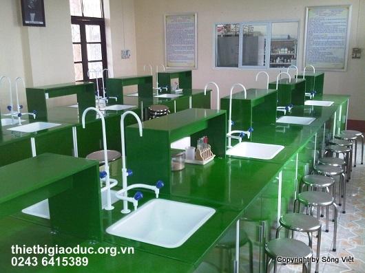 bàn thí nghiệm hóa sinh trường ngô quyền