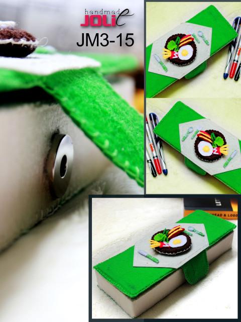 Hộp bút handmade vải nỉ, hộp bút vải nỉ