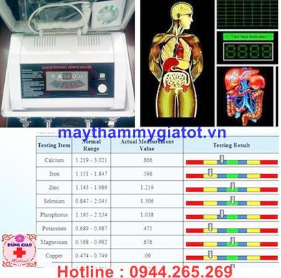 Máy kiểm tra phân tích sức khỏe cơ thể