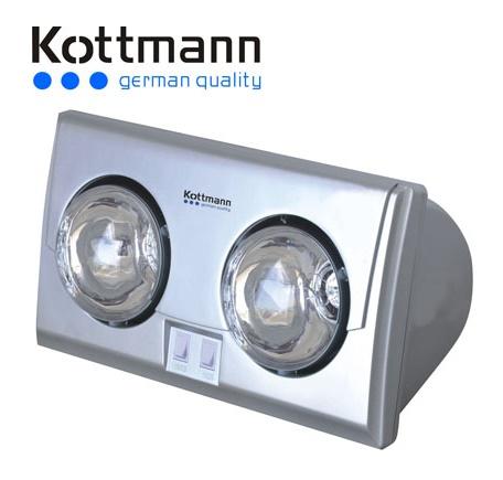 Đèn sưởi nhà tắm Kottmann 2 bóng K2B-S