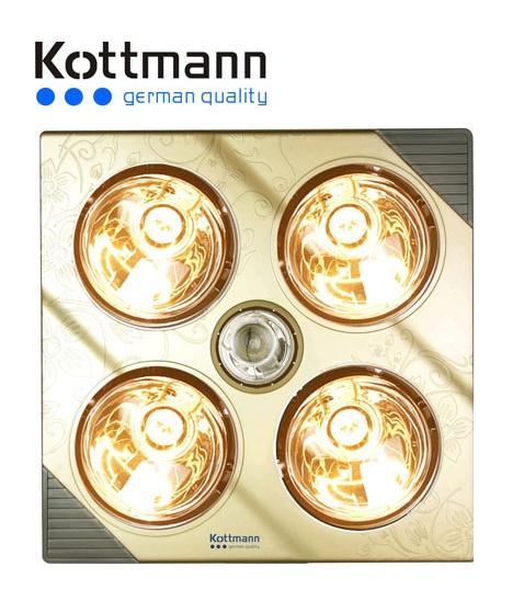 Đèn sưởi nhà tắm Kottmann 4 bóng vàng K4B-G