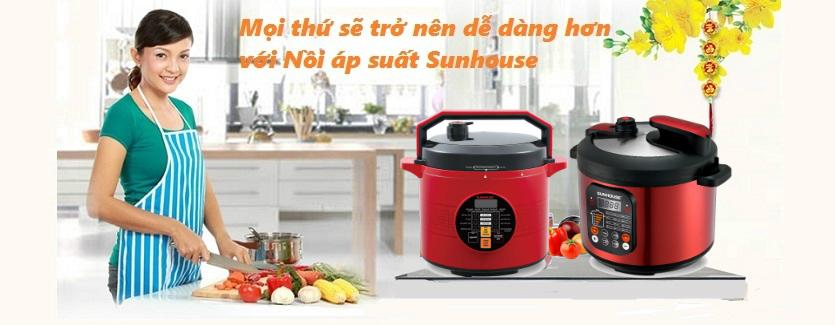 Nồi áp suất điện tử đa năng Sunhouse SHD1751