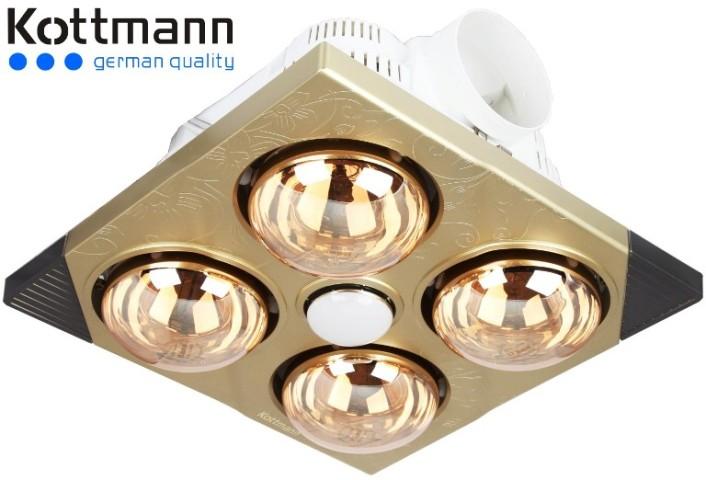 Đèn sưởi nhà tắm Kottmann âm trần K4BT
