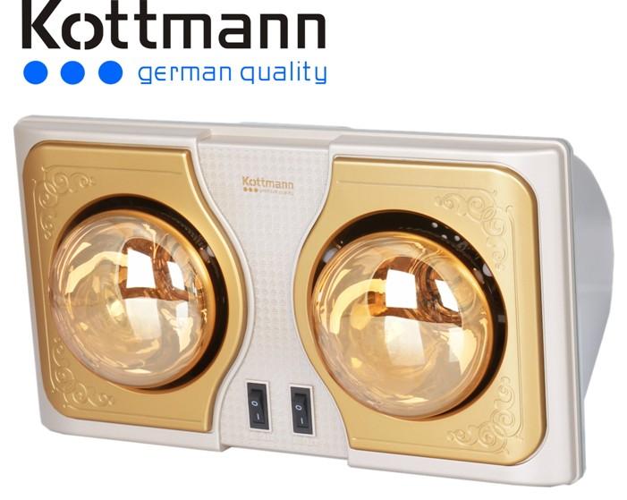 Đèn sưởi nhà tắm Kottmann 2 bóng vàng K2BG