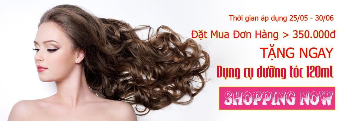 Mua đơn hàng tóc giả trên 350k nhận ngay quà hot