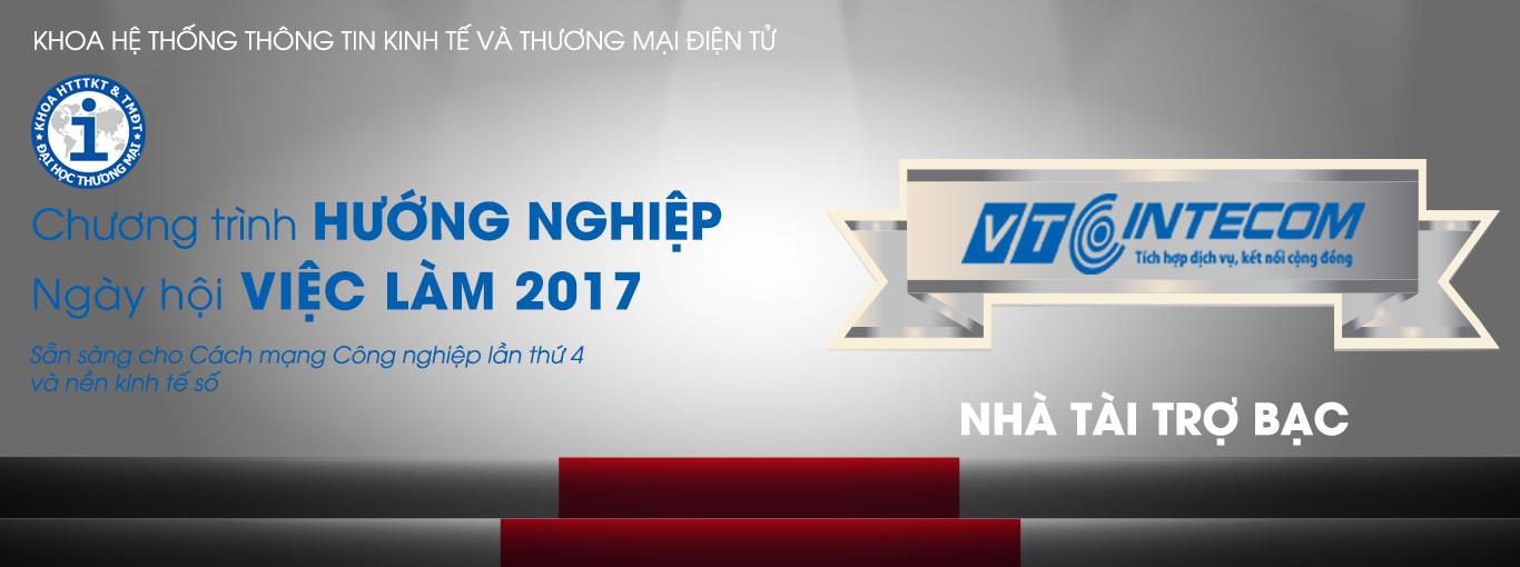 VTC INTECOM - NHÀ TÀI TRỢ BẠC TRONG NGÀY HỘI VIỆC LÀM 2017