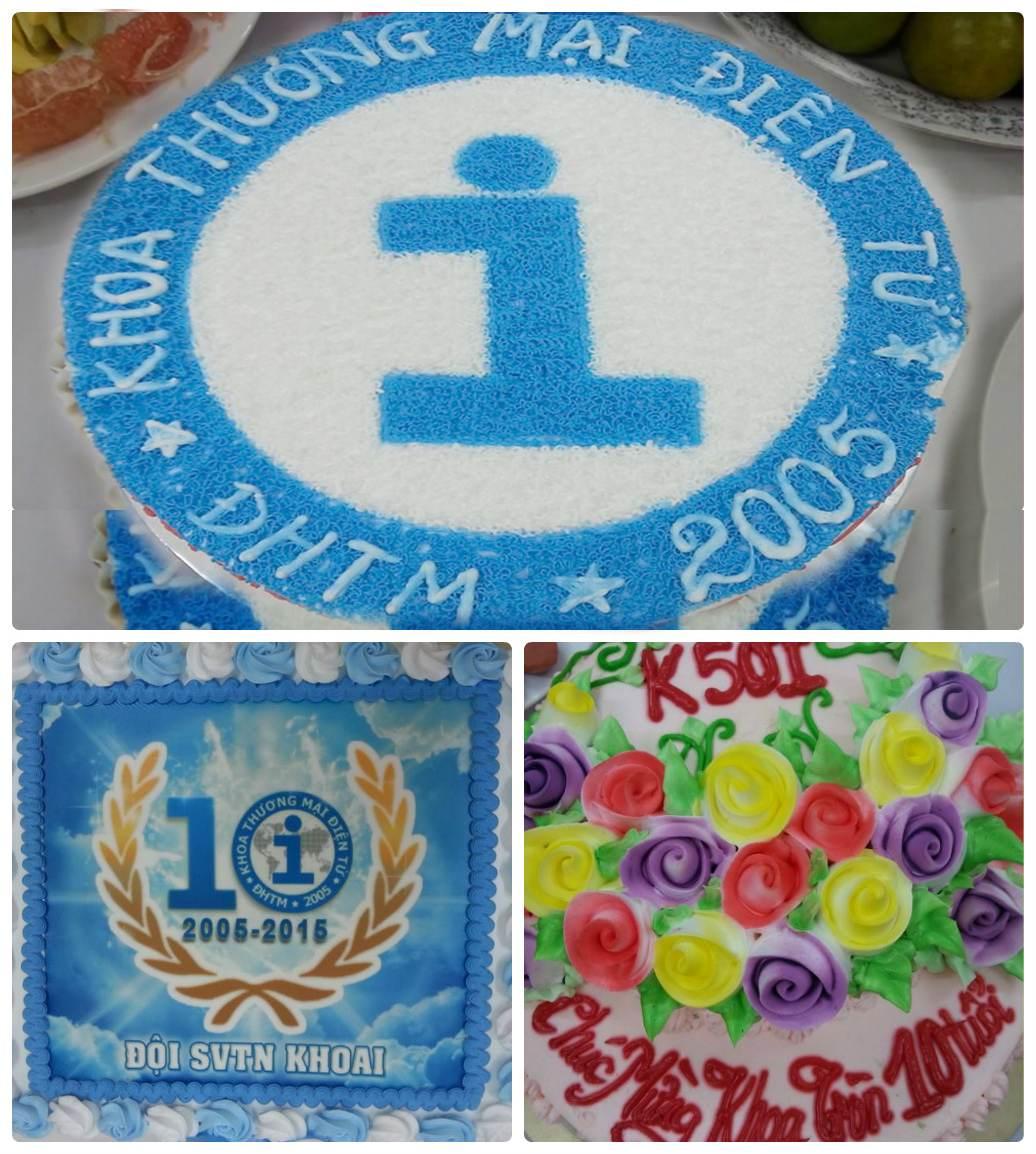 Bánh sinh nhật khoa TMĐT