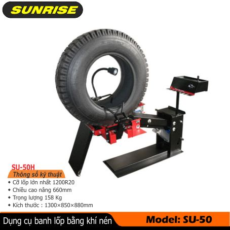 máy banh vỏ lốp xe tải kiểu khí nén, thiết bị banh lốp xe tải