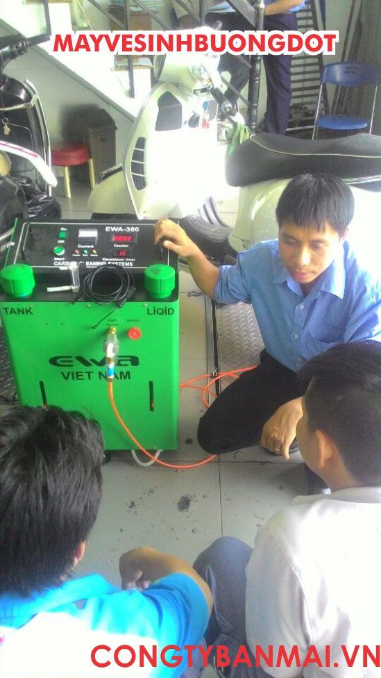 máy vệ sinh buồng đốt EWA, máy làm sạch muội than cácbon xe máy, máy làm sạch muội các bon bằng khí hydro