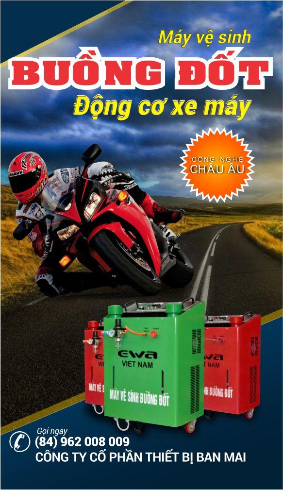 máy vệ sinh buồng đốt xe máy, máy làm sạch động cơ xe máy