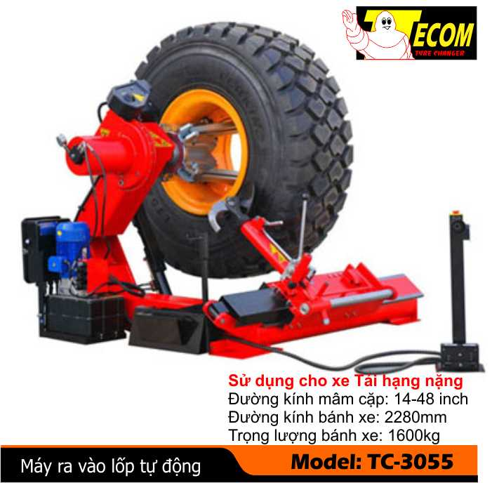máy ra vào lốp tự động, máy ra vào lốp xe tải, máy ra vỏ tự động, máy ra vào vỏ tự động