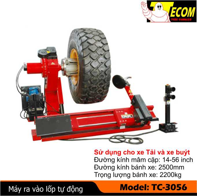 máy ra vào lốp tự động, máy tháo vỏ tự động, máy ra vào vỏ tự động