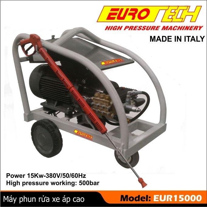 máy rửa xe công suất lớn 15 KW, máy rửa xe ITALY