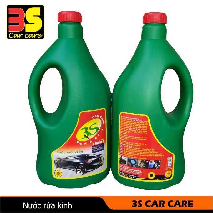 Nước rửa kính ô tô 3S CAR CARE, Nước rửa kính xe ô tô, Nước rửa kính xe hơi, Rửa kính ô tô, Nước đổ bình phun rửa kính