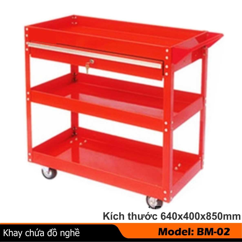 Tủ đồ nghề 3 ngăn, giá đựng đồ 3 ngăn, xe đẩy hòm dụng cụ 3 ngăn