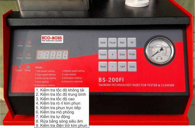 máy súc rửa kim phun, máy súc béc phun, máy súc rửa kim phun xăng điện tử