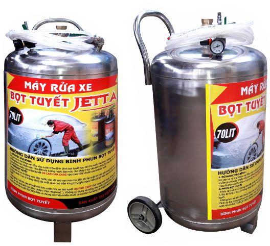 Binh bot tuyet 80 lit, Bình phun bọt tuyết rửa ô tô xe máy 80 lít, Bình tạo bọt tuyết 80 lít, Máy phun bọt tuyết rửa xe, Bình bọt tuyết inox 80 lít