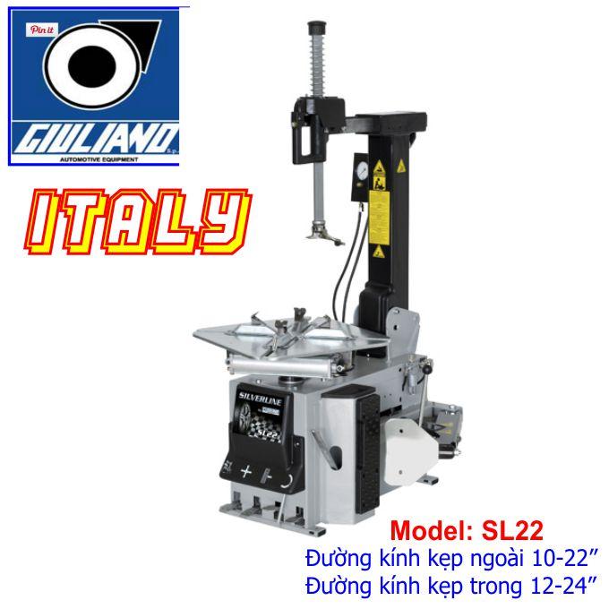 Máy ra vào lốp giuliano sl22 italy sản xuất, máy tháo vỏ italy sản xuất tại italy