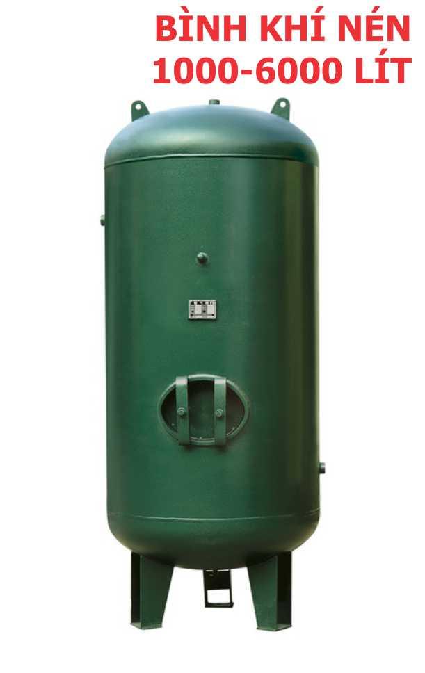 Bình khí nén 1-6m3, bình chứa khí nén