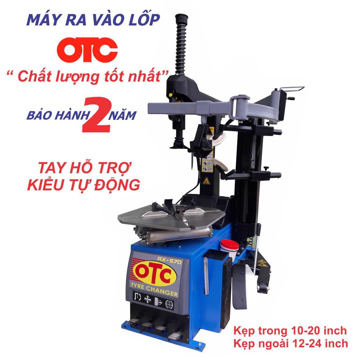 máy ra vào lốp tự động OTC, máy ra vào lốp Đài Loan, máy tháo vỏ Đài Loan