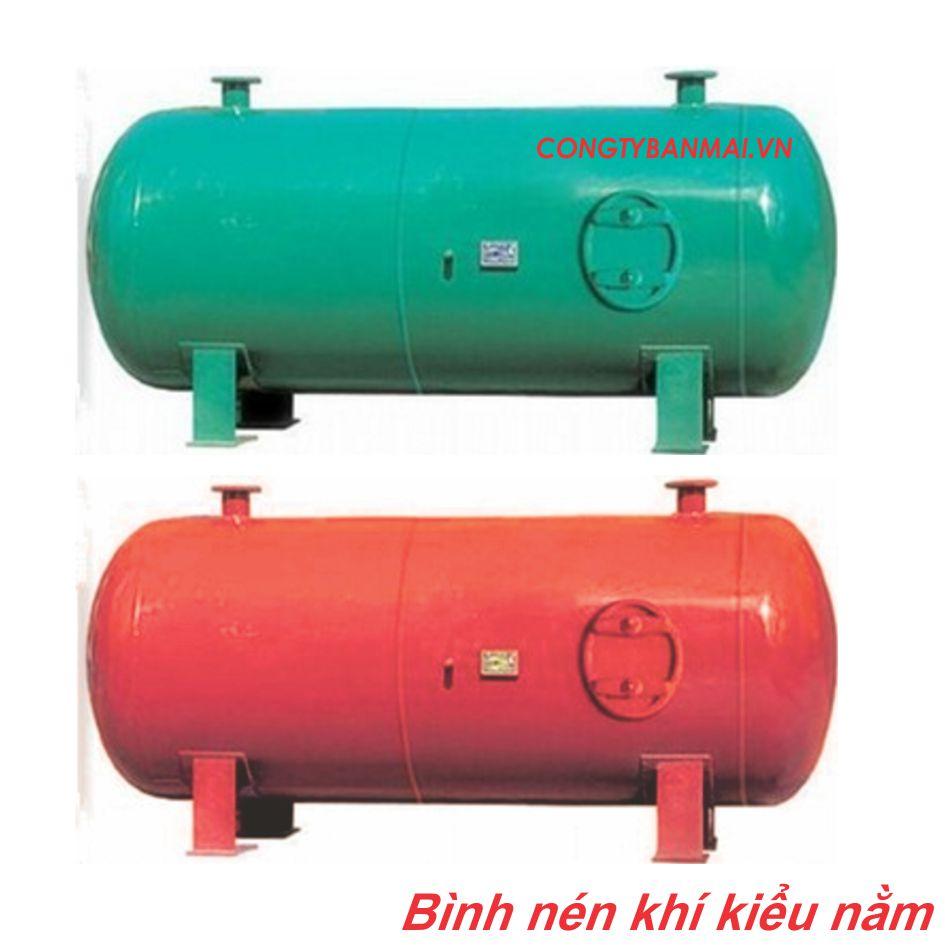 bình nén khí kiểu nằm 1m3, 2m3, 3m3, 4m3, 5m3, 6m3