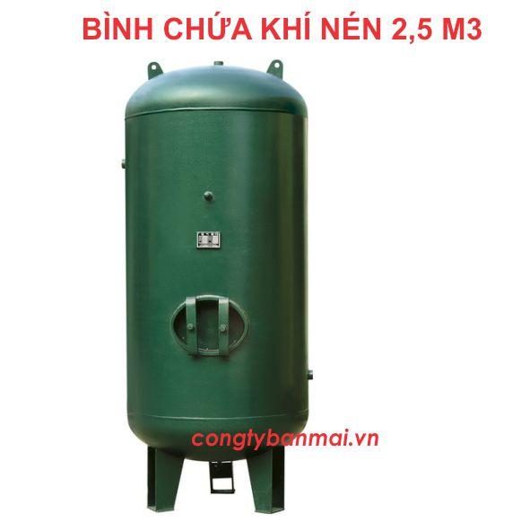 bình chứa khí nén 2,5 m3, bình nén khí 2500 lít