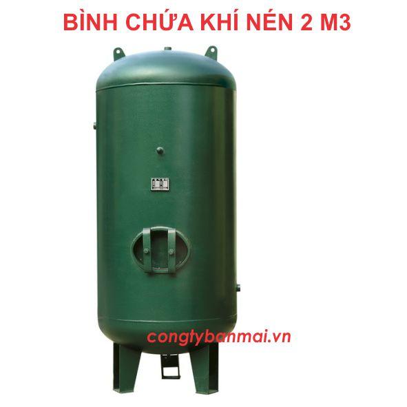 sản xuất bình nén khí 2000 lít, gia công sản xuất bình nén khí 2 m3, bình khí nén, bình chứa khí nén, bình chứa hơi 2m3