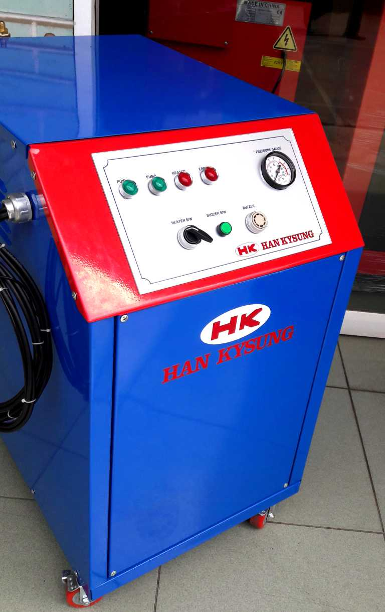 máy rửa xe hơi nước han kysung, rửa xe bằng hơi nước nóng