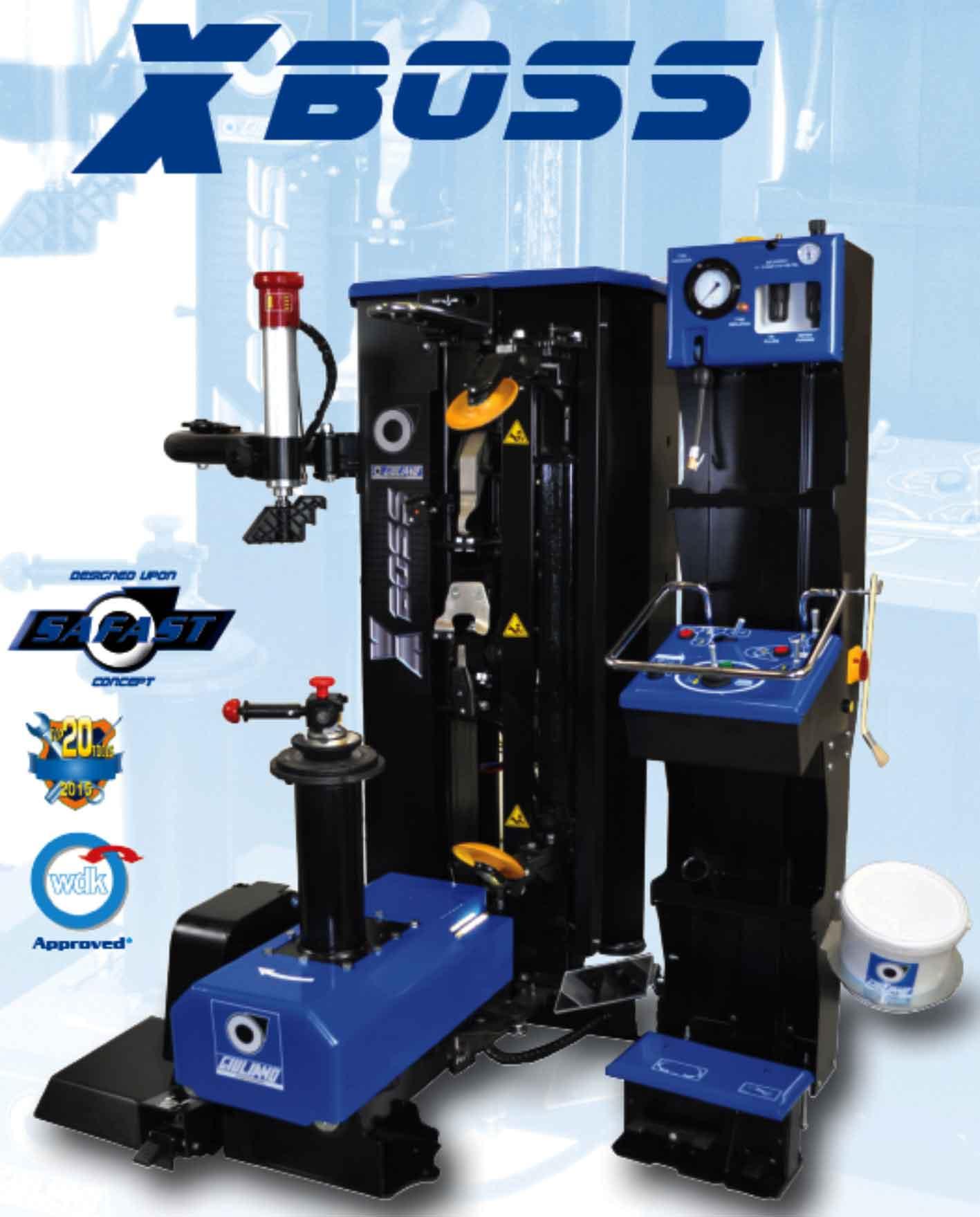 máy ra vào lốp tự động italy, máy tháo vỏ tự động italy, máy ra vỏ tự động X-BOSS, Máy làm lốp tự động Italy