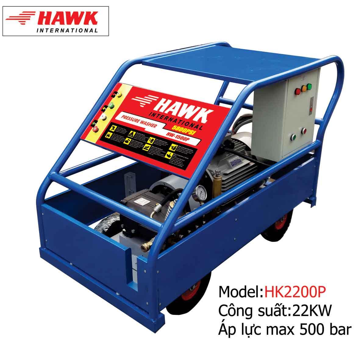 Máy phun rửa công nghiệp 22KW, máy rửa siêu áp 400bar -500bar