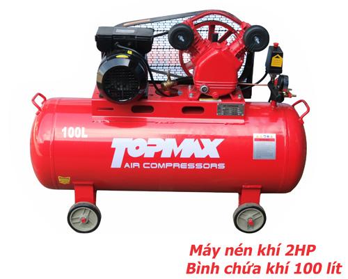 máy nén khí TOPMAX 2HP, máy bơm hơi topmax, máy nén hơi 2HP