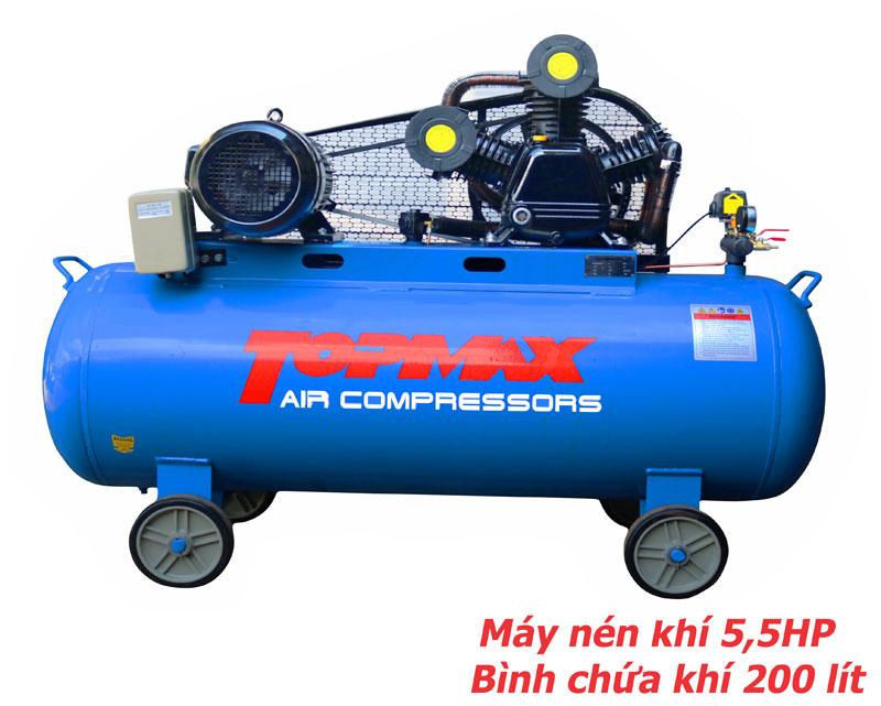 máy nén khí 5,5HP topmax, máy bơm hơi, máy nén hơi 5,5HP