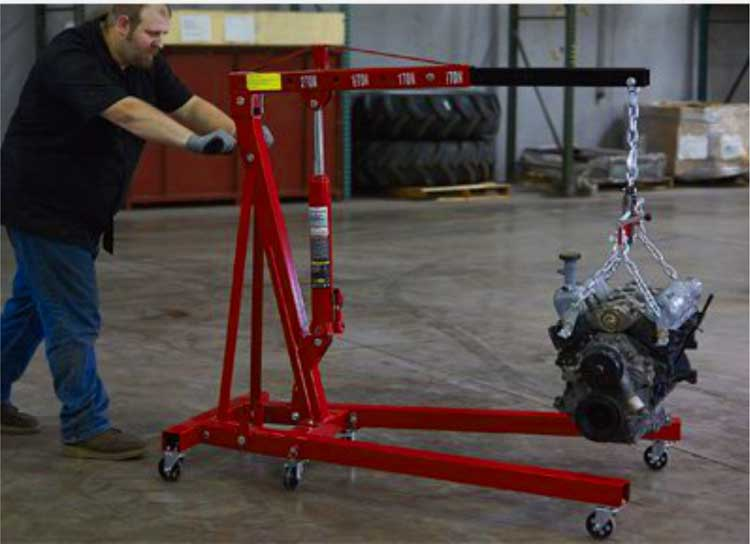 cẩu móc động cơ ô tô 2 tấn
