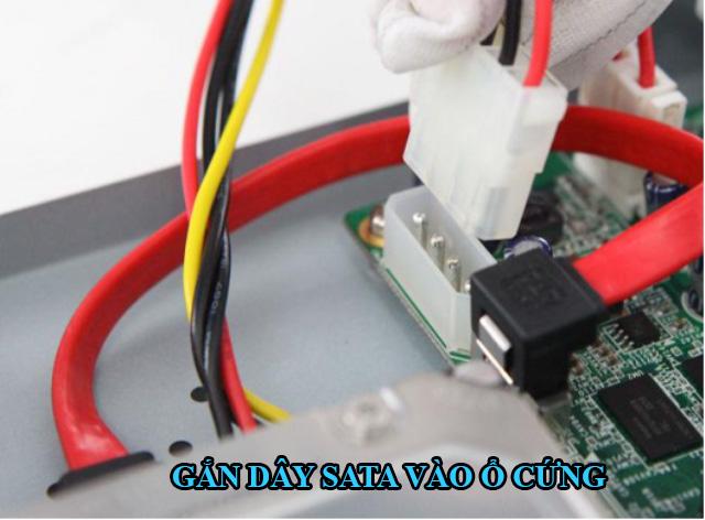 gắn dây nguồn vào ổ cứng