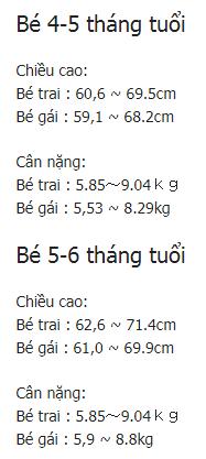 be 3 thang tuoi nang bao nhieu kg