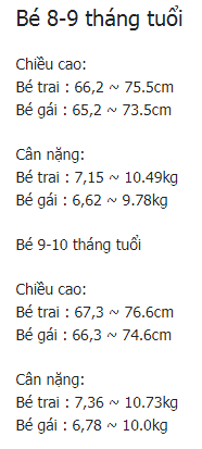 trẻ 5 tháng tuổi nặng bao nhiêu kg