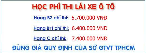 HOC PHI HOC LAI XE OTO