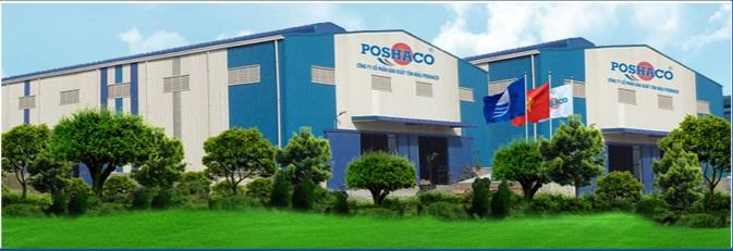 Nhà máy sản xuất tôn mạ màu Poshaco tại Hải Dương