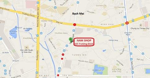 Bản đồ Shop người lớn Hà Nội NamShop tại 165 Trương Định