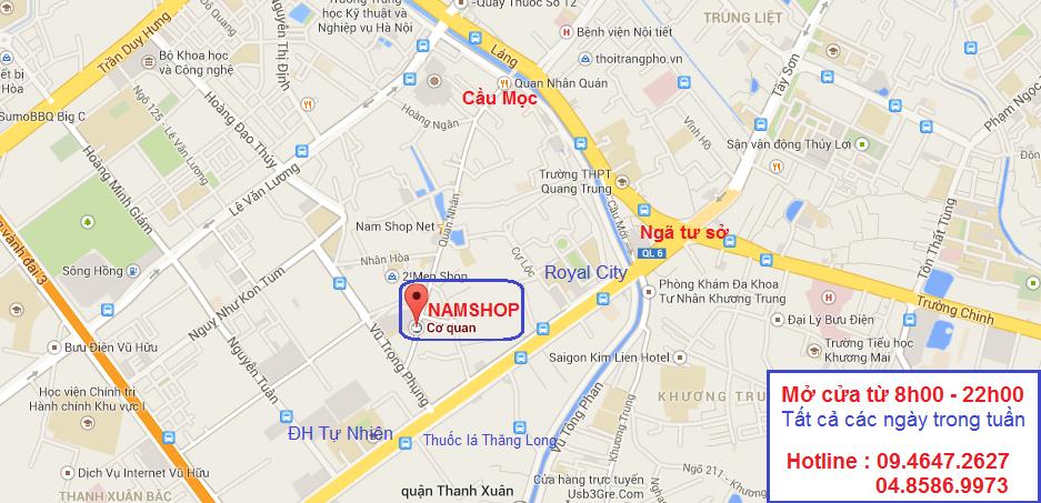 Bản đồ Shop bao cao su Hà Nội NamShop tại 279B Quan Nhân