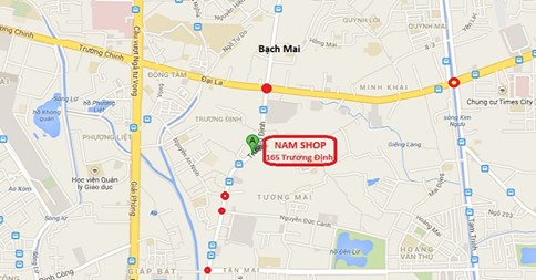 Bản đồ đến Shop người lớn Hà Nội Namshop