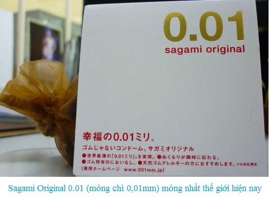 Bao cao su mỏng nhất thế giới Sagami Original 0.01