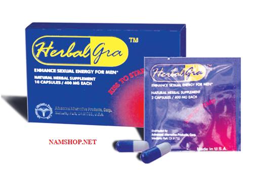 Viên uống tăng độ cương dương HerbalGra for men