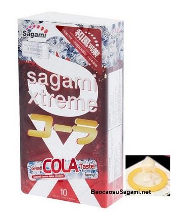 Bao cao su có hương thơm Sagami Xtreme Cola