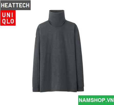 Áo giữ nhiệt cho nam hiệu Heattech Uniqlo Nhật Bản màu ghi đen
