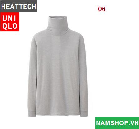 Áo giữ nhiệt cho nam hiệu Heattech Uniqlo Nhật Bản màu xám ghi